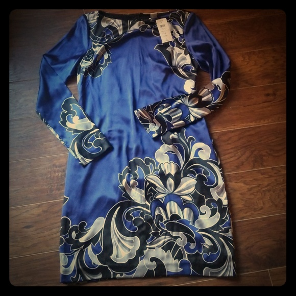Cache Dresses & Skirts - Cache dress NWT royal blue with black and gray. Be